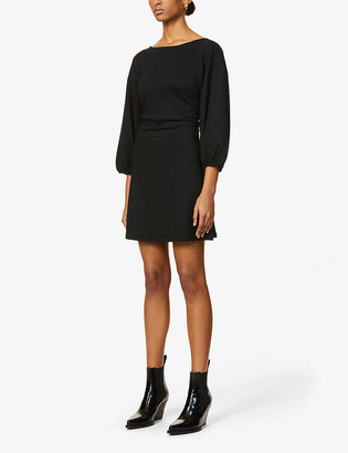 Free People Bianca open-back stretch-woven mini dress