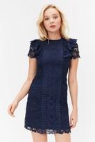 Coast High Neck Lace Short Dress