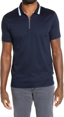 HUGO BOSS Paras Short Sleeve Zip Polo