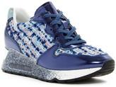 Ash Love Tweed Platform Wedge Sneaker