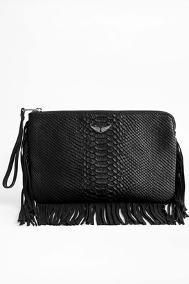 Zadig & Voltaire Uma Fringes Savage Clutch