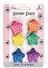 Mia Jaw Clamps jaw clamps - Rainbow Glitter Stars (6)