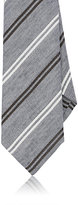 Isaia MEN'S STRIPED LINEN-SILK NECKTIE