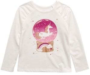Epic Threads Toddler Girls Unicorn Snow Globe T-Shirt, Created For Macy's