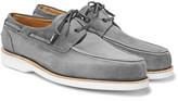 John Lobb Isle Suede Boat Shoes - Gray
