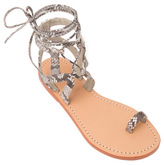 Mystique Lace Up Sandal With Toe Ring