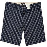 River Island MensNavy checked slim fit chino shorts