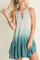 Umgee USA Sleeveless Dip Dye Dress