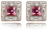 Miki&Co Golden Swarovski Elements Women's Crystal Square Earrings, with a Gift Box