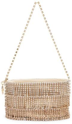 Rosantica Embellished Oval Ginger Shimmy Bucket Bag
