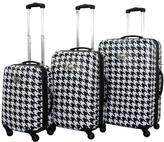 Chariot White/Black Bird 3-piece Luggage Set