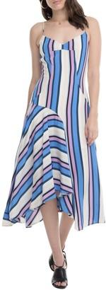 ASTR the Label Ellen Directional Stripe Handkerchief Hem Dress