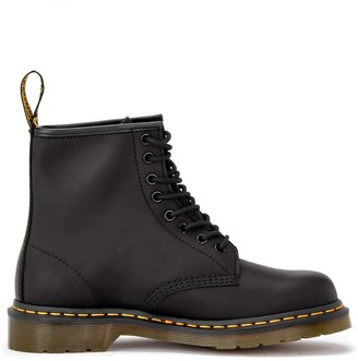 Dr. Martens Amphibious 8-hole Boot In Greased Black Leather