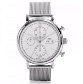 IWC Portofino Chronograph IW391009 Stainless Steel Silver Dial 42mm Watch