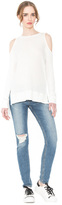 Alice + Olivia Landon Cold Shoulder Sweatshirt