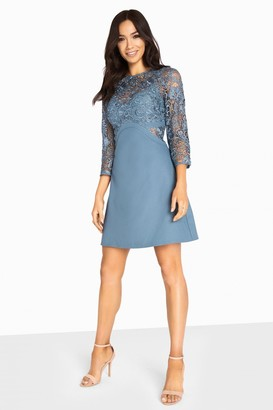 Little Mistress Brooke Crochet Top Shift Dress
