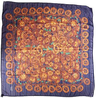 One Kings Lane Vintage Chanel 90s Blue Silk Chiffon Scarf - Vintage Lux