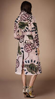 Burberry Hand-painted Organdy Trench Coat