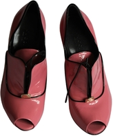 Gucci Pink Patent leather Mules Clogs