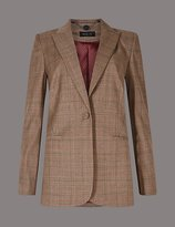 Autograph Wool Blend Checked Jacket