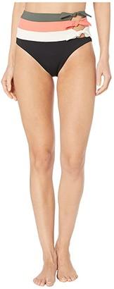 Becca by Rebecca Virtue Circuit Peyton High-Waist Vintage Pant Bottoms (Black) Women's Swimwear