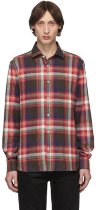 eidos Red Plaid JB Collar ITA Shirt