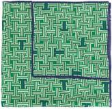 Lanvin geometric print square scarf