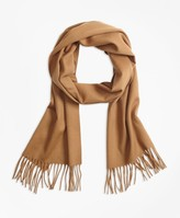 Brooks Brothers Saxxon Wool Scarf with Fringe