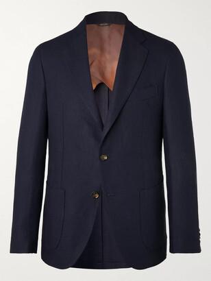 Loro Piana Navy Slim-Fit Unstructured Linen Blazer