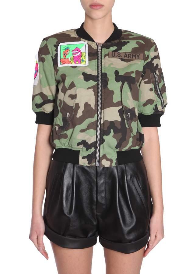 Jeremy Scott Camouflage Bomber Jacket