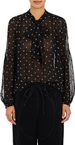 Ulla Johnson Women's Odelia Embroidered Georgette Blouse-BLACK