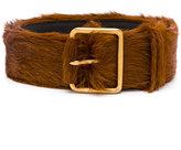 Prada furry buckle belt