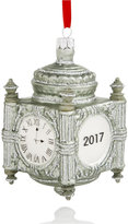 Holiday Lane Glass State Street 2017 Clock Ornament, Created for Macy's