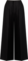 Joseph Brodie wide-leg cropped satin trousers