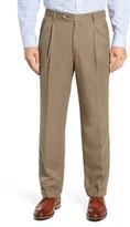 Berle Classic Fit Pleated Microfiber Performance Dress Pants