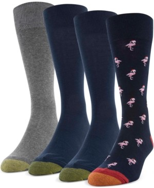 Gold Toe Men's 4-Pack Santa Flamingo Socks