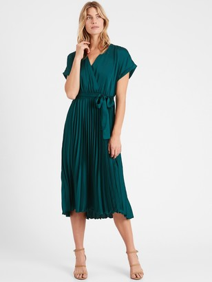 Banana Republic Pleated Midi Dress