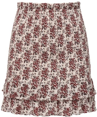 SIR the Label Dante Ruffled Stretch Cotton Skirt