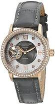 Stuhrling Original Women's 710.04 Vogue Automatic Self Wind Grey Genuine Leather Strap Watch
