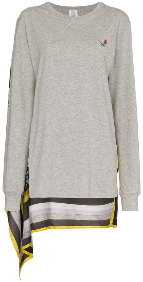Rosie Assoulin Scarf-Back Long-Sleeve T-Shirt