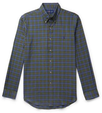 Polo Ralph Lauren Button-Down Collar Checked Cotton-Flannel Shirt