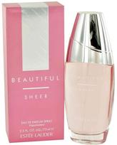 Estee Lauder Beautiful Sheer by Eau De Parfum Spray for Women (2.5 oz)