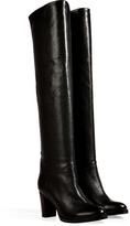 L'Autre Chose LAutre Chose Textured Leather Over-the-Knee Boots in Black