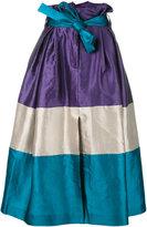 Alberta Ferretti striped full skirt - women - Silk/Linen/Flax/Polyamide/Rayon - 40