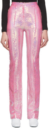 Paco Rabanne Pink Sequin Trousers