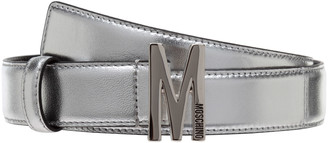 Moschino Monogram Buckle Belt