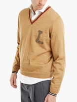 Lanvin Camel Distressed Wool Sweater