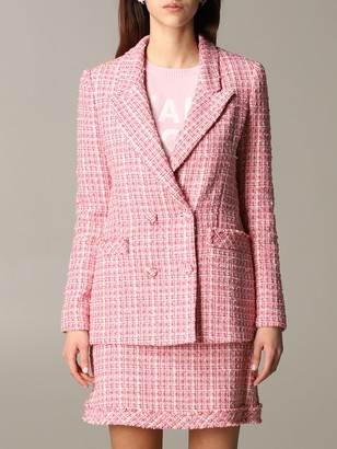 Be Blumarine Suit Be Blumarine Double-breasted Bouclé Jacket