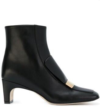 Sergio Rossi Sr1 Square-Toe Boots