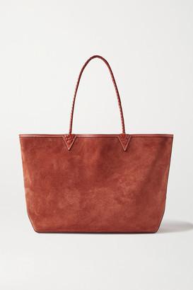 Altuzarra Espadrille Large Reversible Leather-trimmed Suede Tote - Brown